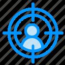 aim, man, target icon