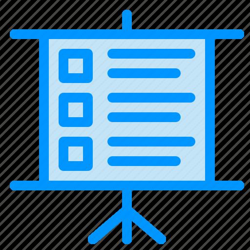 business, presentation, text icon