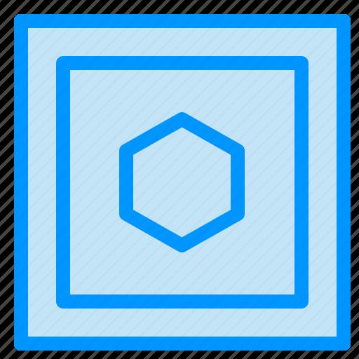 hexagon, shape, sides, six icon