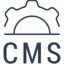cms, online, settings, system icon