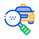 find, online, search, taxi icon