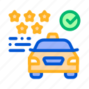 online, rating, service, taxi icon