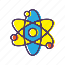 atom, physics, school, science, study icon