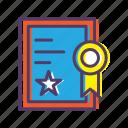 achievement, award, certificate, diploma