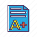audit, exam, grades, test icon