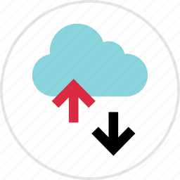 activity, arrow, cloud, down, guardar, save, streaming, up icon