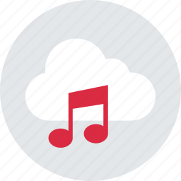 cloud, music, play, player, stream icon