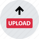 content, to, upload, video, website, youtube icon