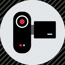 content, record, recorder, upload, vid, video icon
