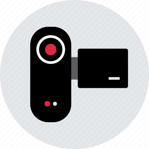 content, record, recorder, upload, vid, video icon
