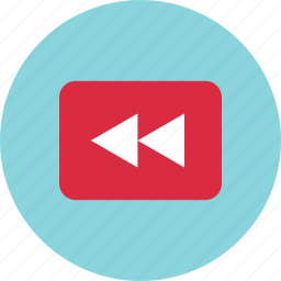 back, history, left, playback, rewind, youtube icon