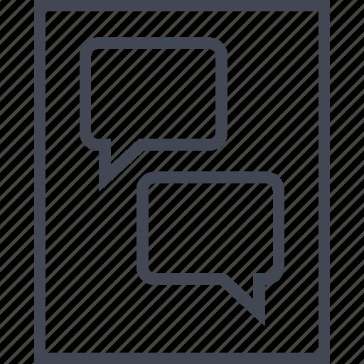 chat, conversation, online, wireframe icon