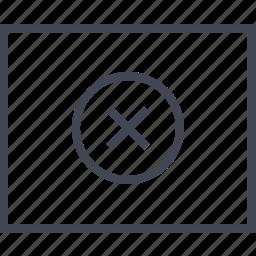close, delete, wireframe, x icon