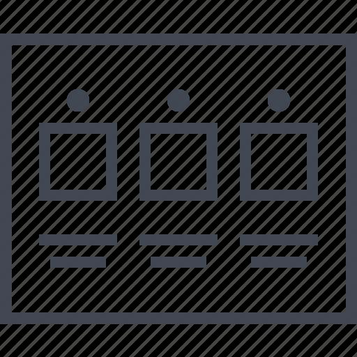 analyze, data, page, wireframe icon