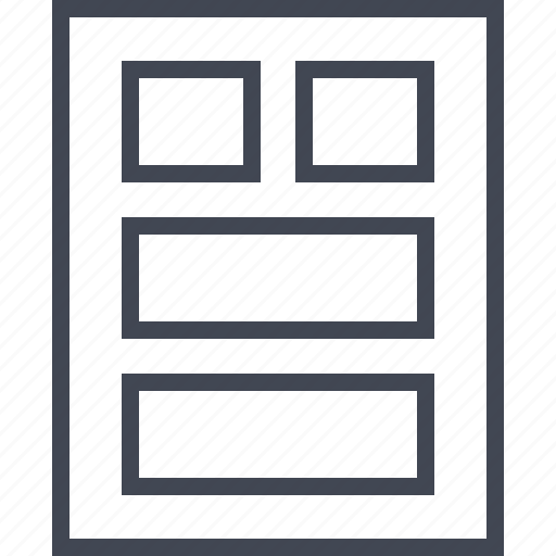 box, four, gallery, picture, wireframe icon