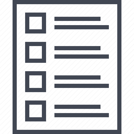 four, layout, list, wireframe icon