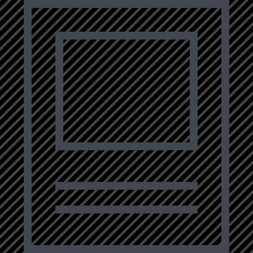 large, photo, web, wireframe icon