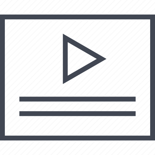 media, play, video, wireframe icon