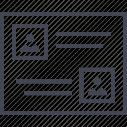 conversation, online, wireframe icon