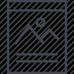 album, photo, picture, wireframe icon