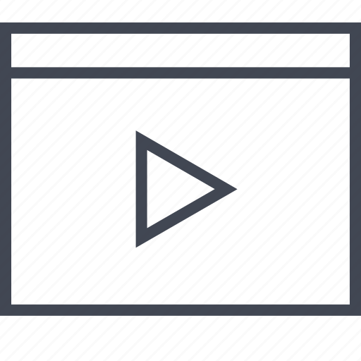 media, play, wireframe, youtube icon