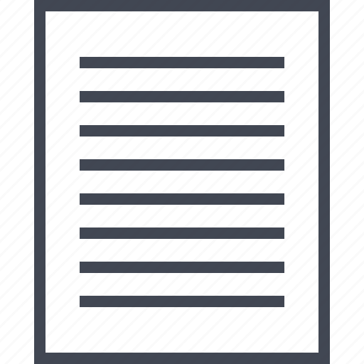 document, reading, text, wireframe icon