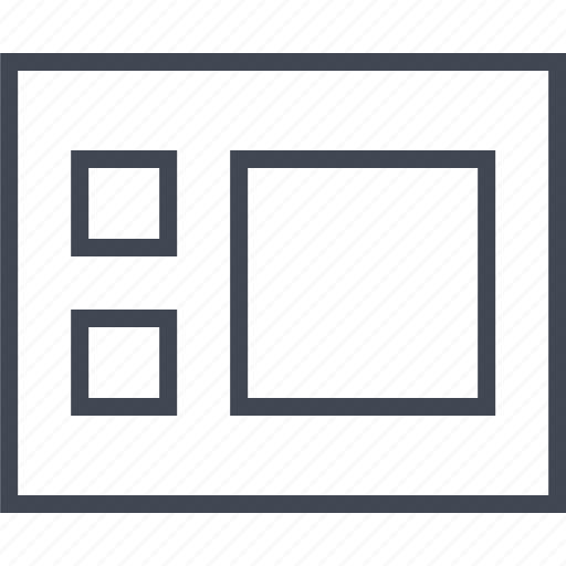 box, gallery, three, wireframe icon