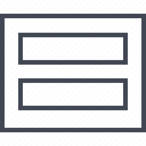 gallery, headers, two, wireframe icon
