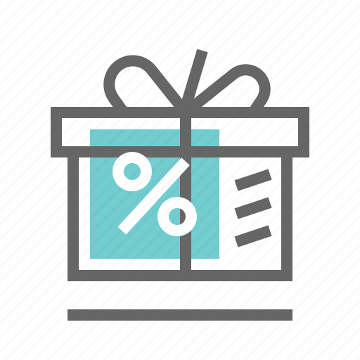 box, discount, gift, shopping icon