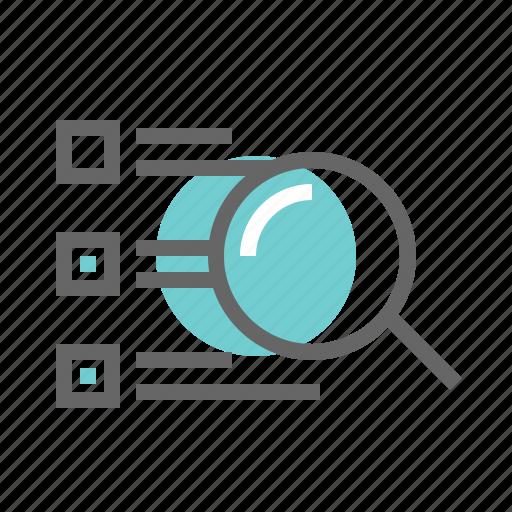 catalog, list, search icon
