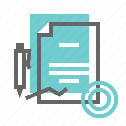 business, contract, document, finance icon