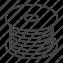 bobbin, cable, fiber, optical, wire icon