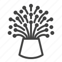 cable, fiber, lamp, optical icon