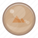 earth, fire, heart, love, orb, sun, thunder, water icon