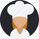 avatar, chef, cooking, food, person, woman icon