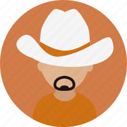 avatar, cowboy, male, people, person icon