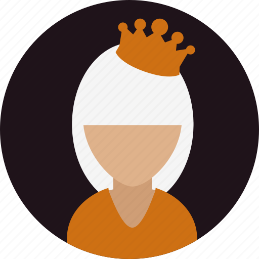 avatar, crown, drama, person, queen, woman icon
