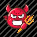angry, cat, cute, devil, emoji, emoticon, expression