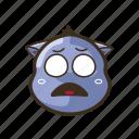 cat, cute, emoji, emoticon, expression, fearful, scared