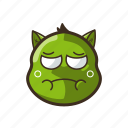 cat, cute, emoji, emoticon, expression, nauseated, sick icon