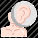 anatomy, body, ear, earlobe, listening, parts