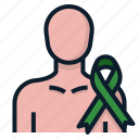 donation, donor, man, symbol icon