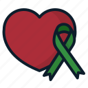 donation, heart, organ, symbol icon