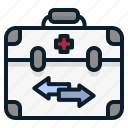 box, donation, human, lifeport, organ, preservation, recovery icon