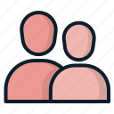 friend, group, peoples, relative, users icon