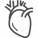 heart, human, internal, organ icon