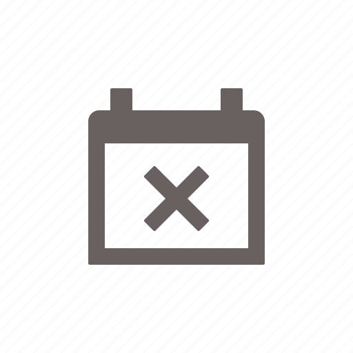 calendar, cancel, cross, delete, event, remove, schedule icon