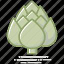 artichoke, bud, food, groceries, healthy eating, vegetable icon