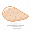 food, groceries, healthy eating, sweet potato, vegetable icon