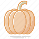 food, groceries, healthy eating, pumpkin, squash, vegetable icon